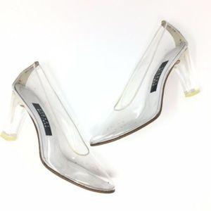 Stuart Weitzman Clear Cinderella Pumps Heels
